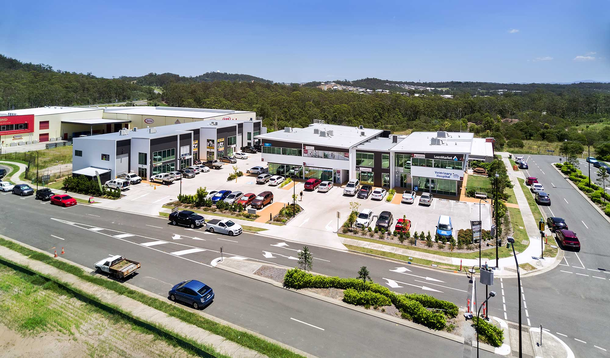 Aerial Drone Photographs Brookwater Tech Park to create impressive wide angle panorama