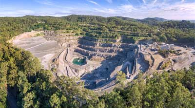 Brisbane Drone Services - Drone photography of Mount Coot-Tha quarry