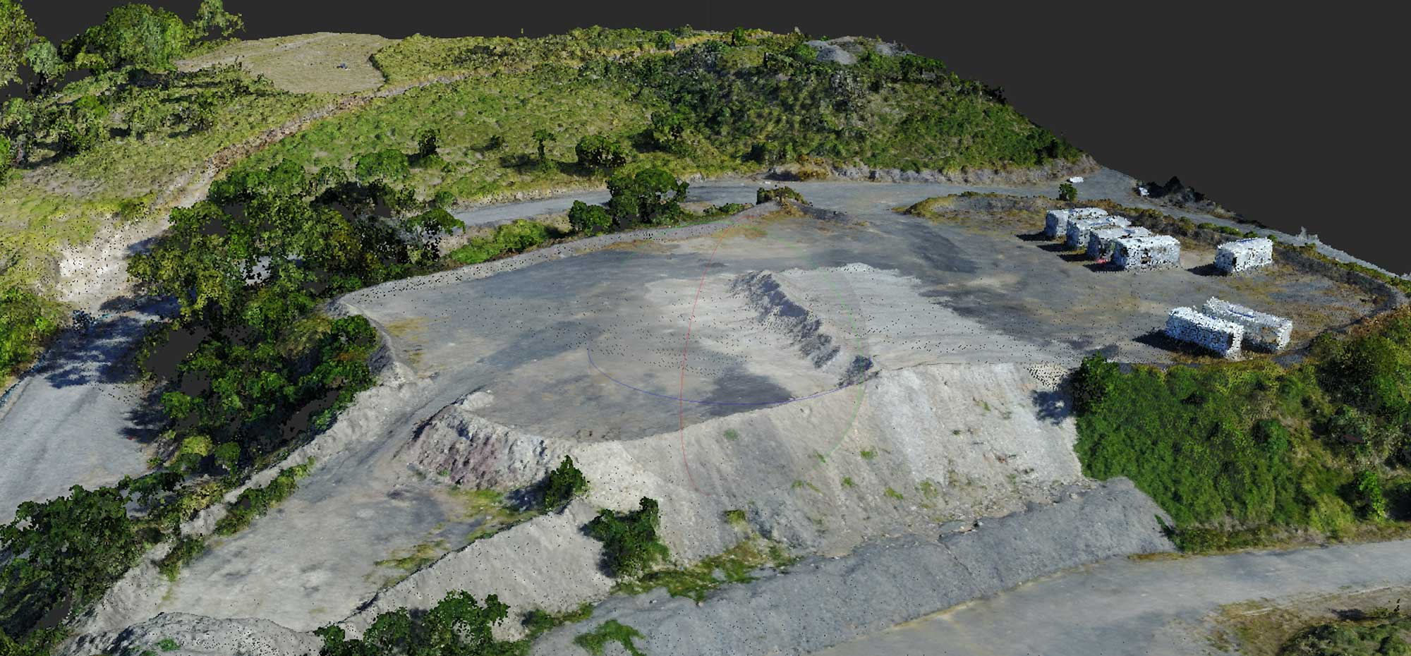 MavicPro Drone Mapping produces point cloud model with 75 million points