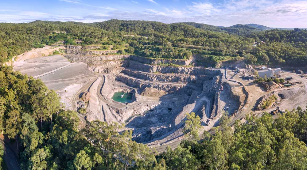 DroneAce aerial photography | videography - Aerial drone photography of Mount Coot-tha quarry