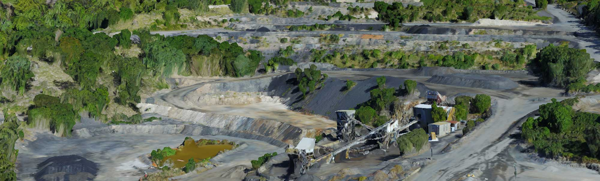 DroneAce used aerial drone mapping and 3D modeling photogrammetry techniques to produce this accurate 3D model of a quarry in Brisbane