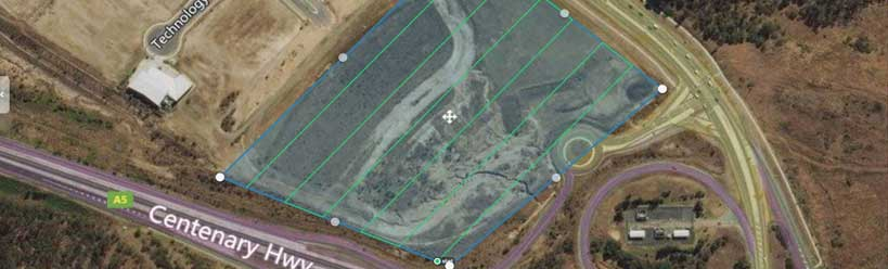 DroneAce Brisbane drone service provider uses sophisticated photogrammetry software to create 3D model of terrain in Southport
