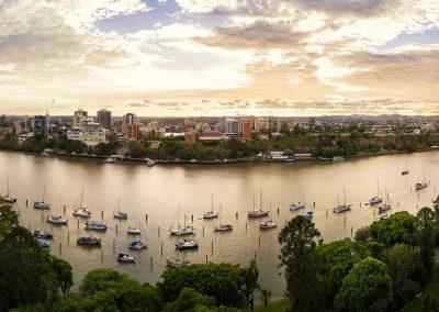 Aerial Drone Photography Brisbane Botanic Gardens