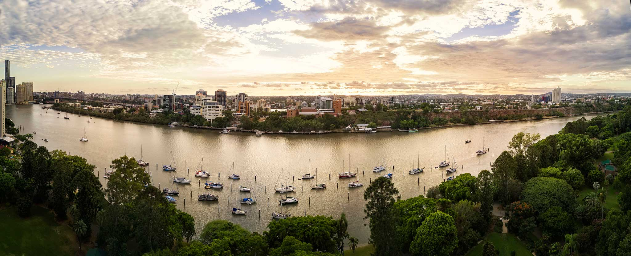 Purchase Image - Brisbane Botanic Gardens by DroneAce - Digital download available
