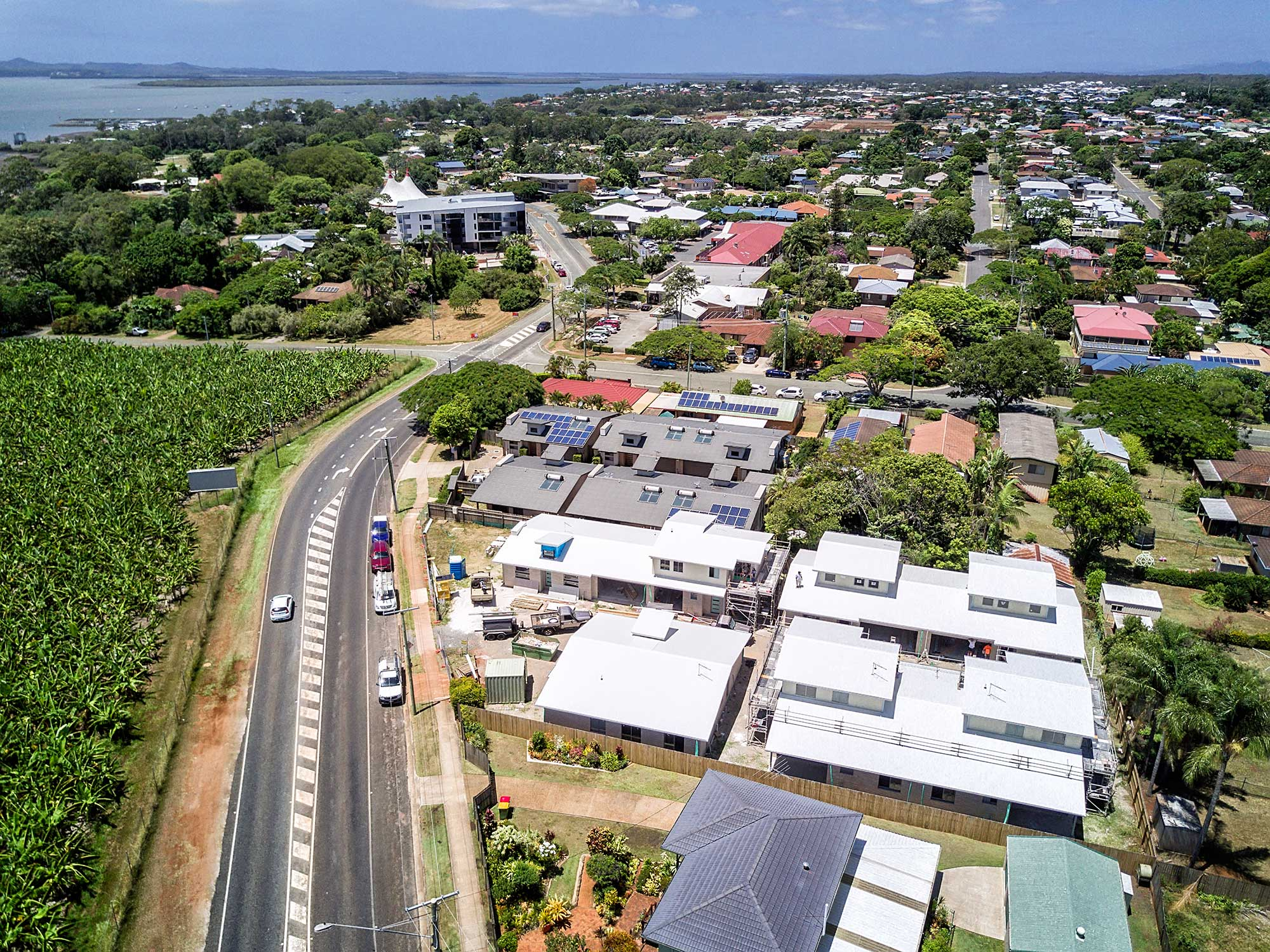 Aerial Drone Photography Brisbane Redland Bay building construction
