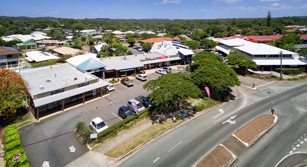 Aerial Drone Photography Brisbane Redland Bay local shops