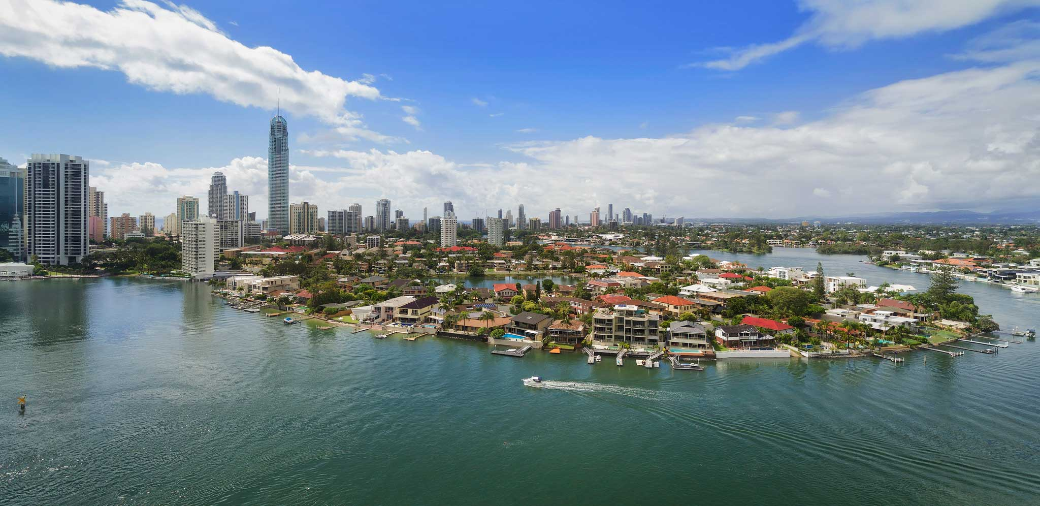 Aerial panorama photography of Southport Gold Coast during the daytime - DroneAce