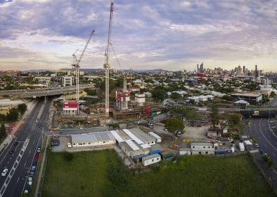 Aerial Drone Photography Cranes Woolloongabba