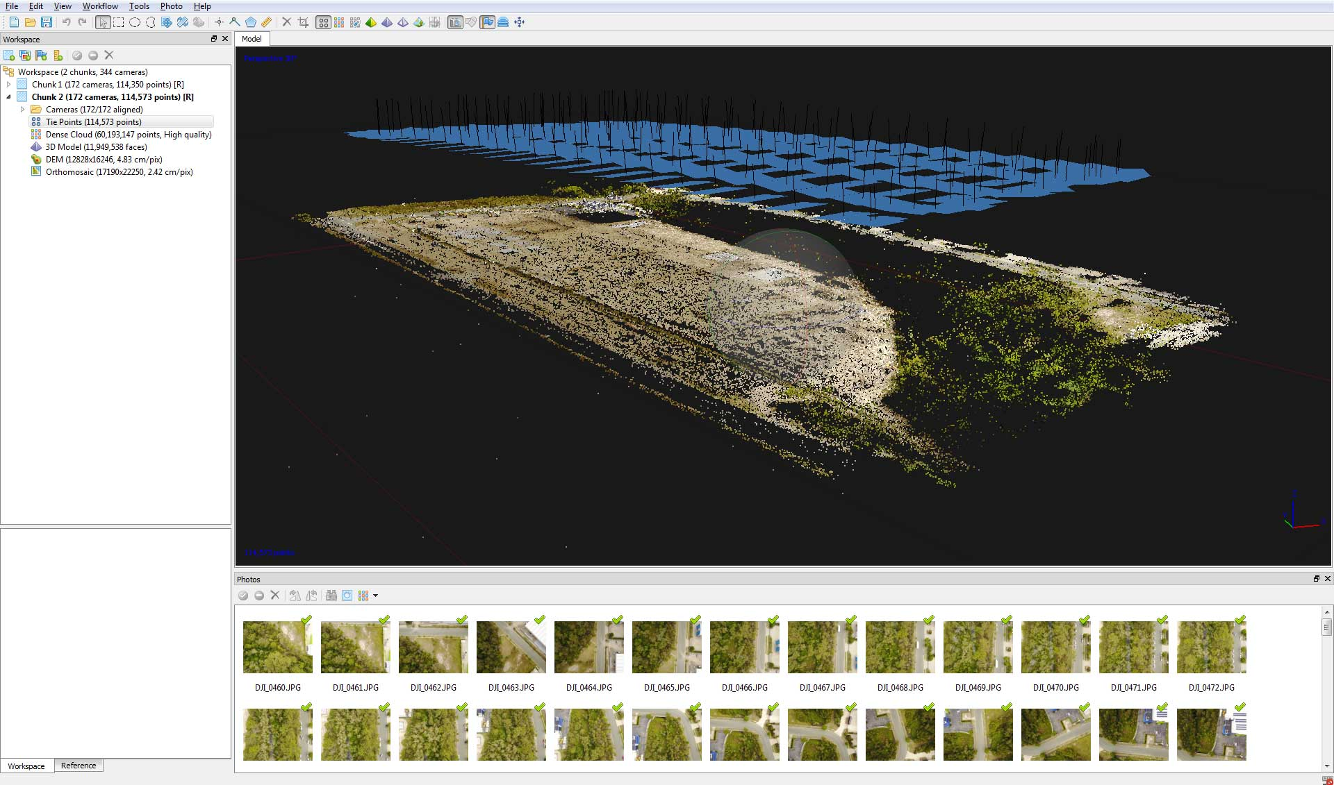 Drone Mapping Gold Coast construction site sparse point cloud by DroneAce