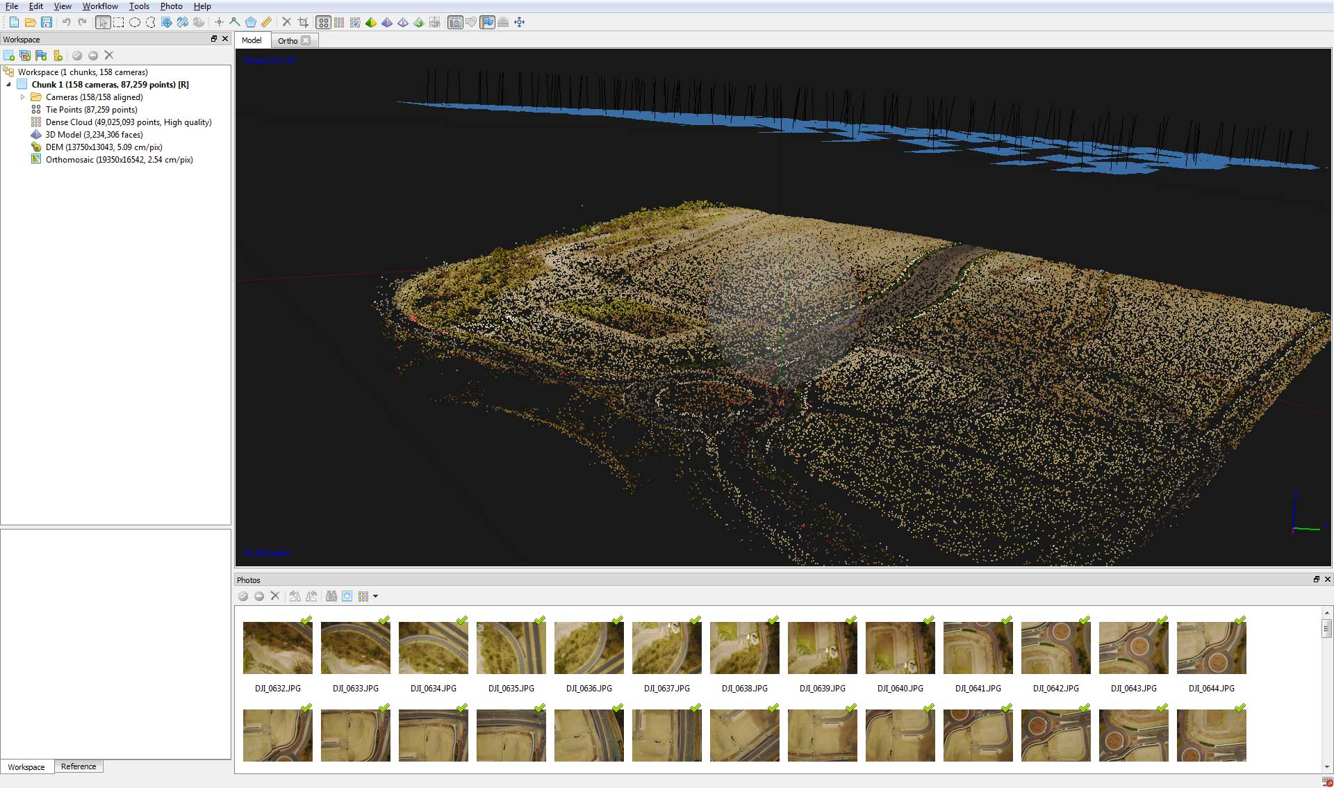 Drone Mapping sparse point cloud construction site Brisbane by DroneAce