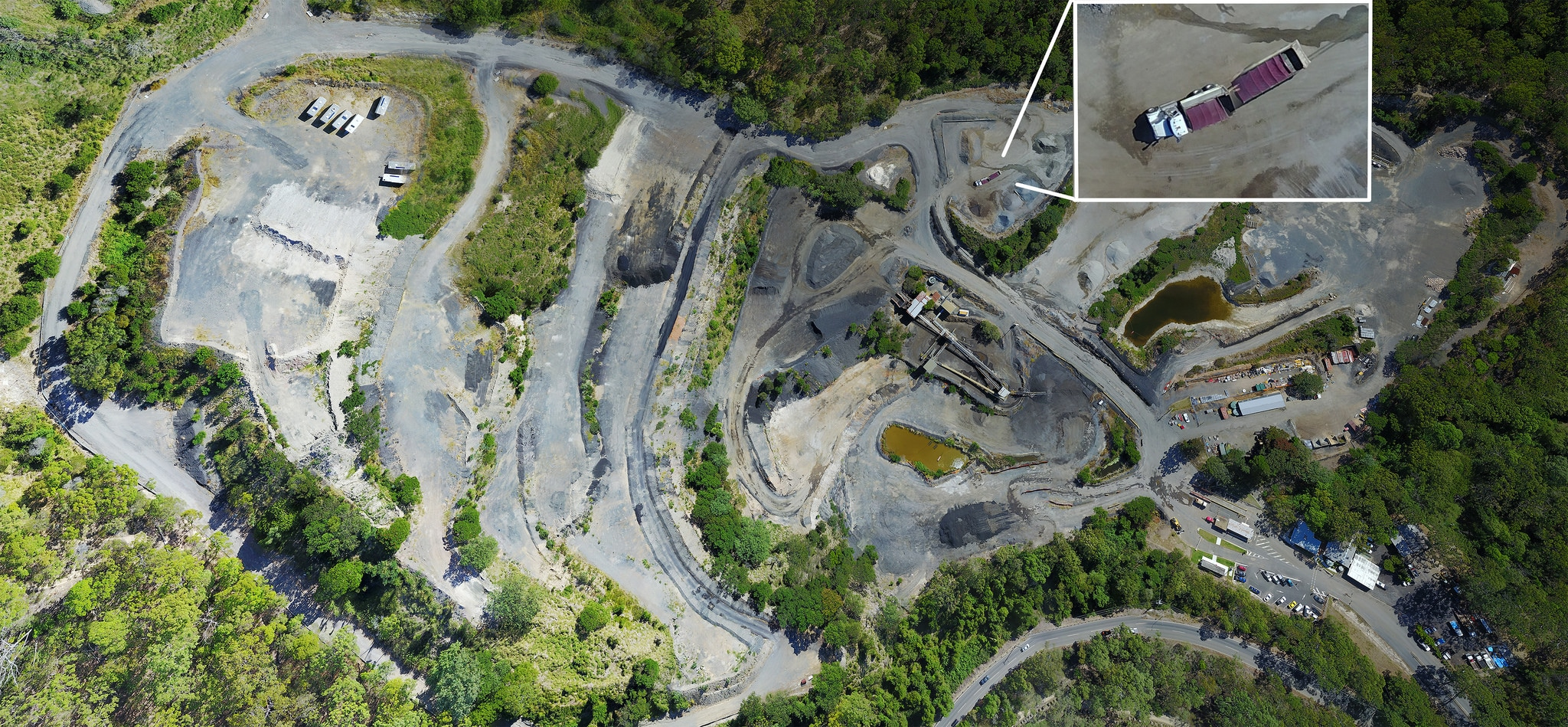 Drone mapping orthomisaic of Brisbane quarry by DroneAce