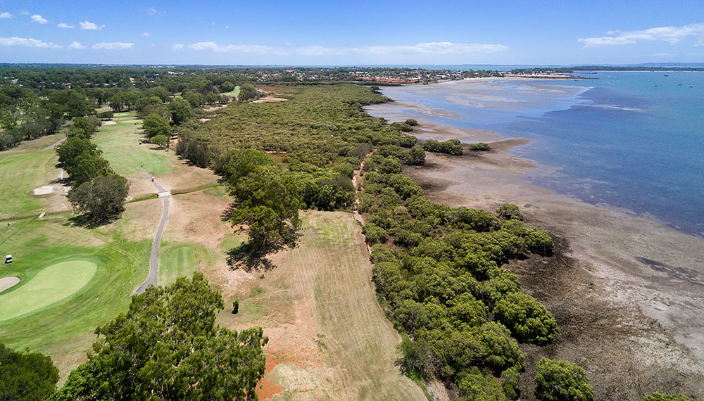 Aerial Drone Photography Brisbane Redland Bay golf course