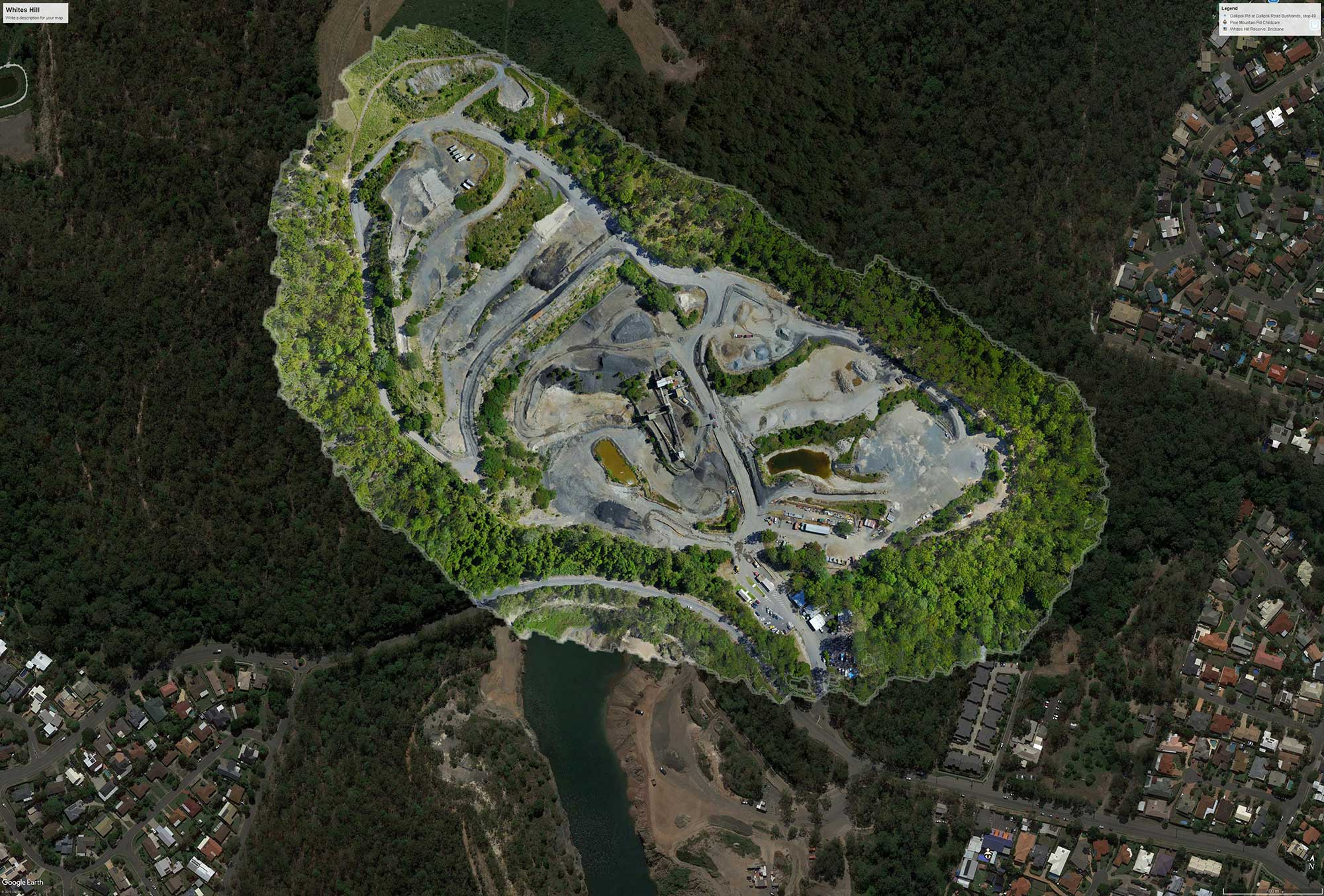 Drone mapping orthomosaic exported to GIS Google Earth Pro