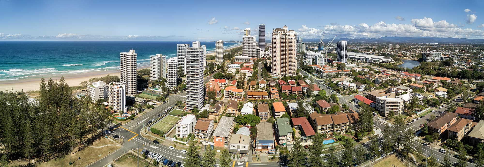 Brisbane drone panorama photography montage of Broadbeach by DroneAce