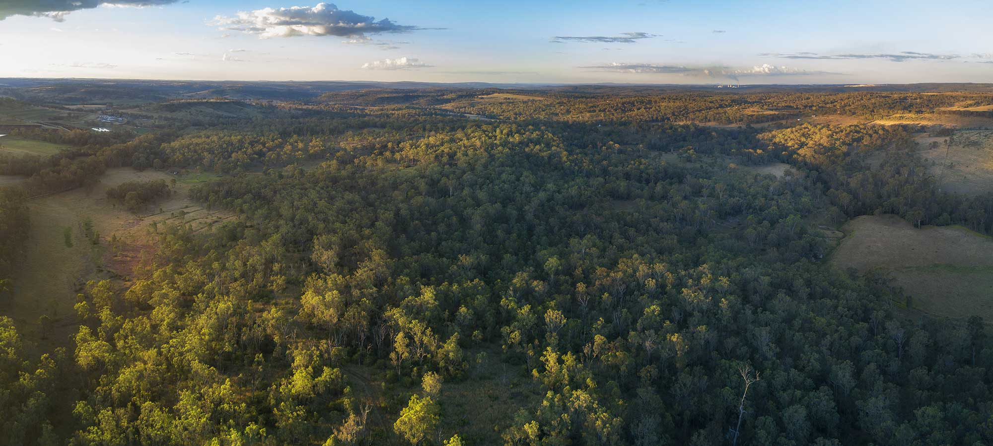BunyipSprings Farmstay sunset drone panorama photography