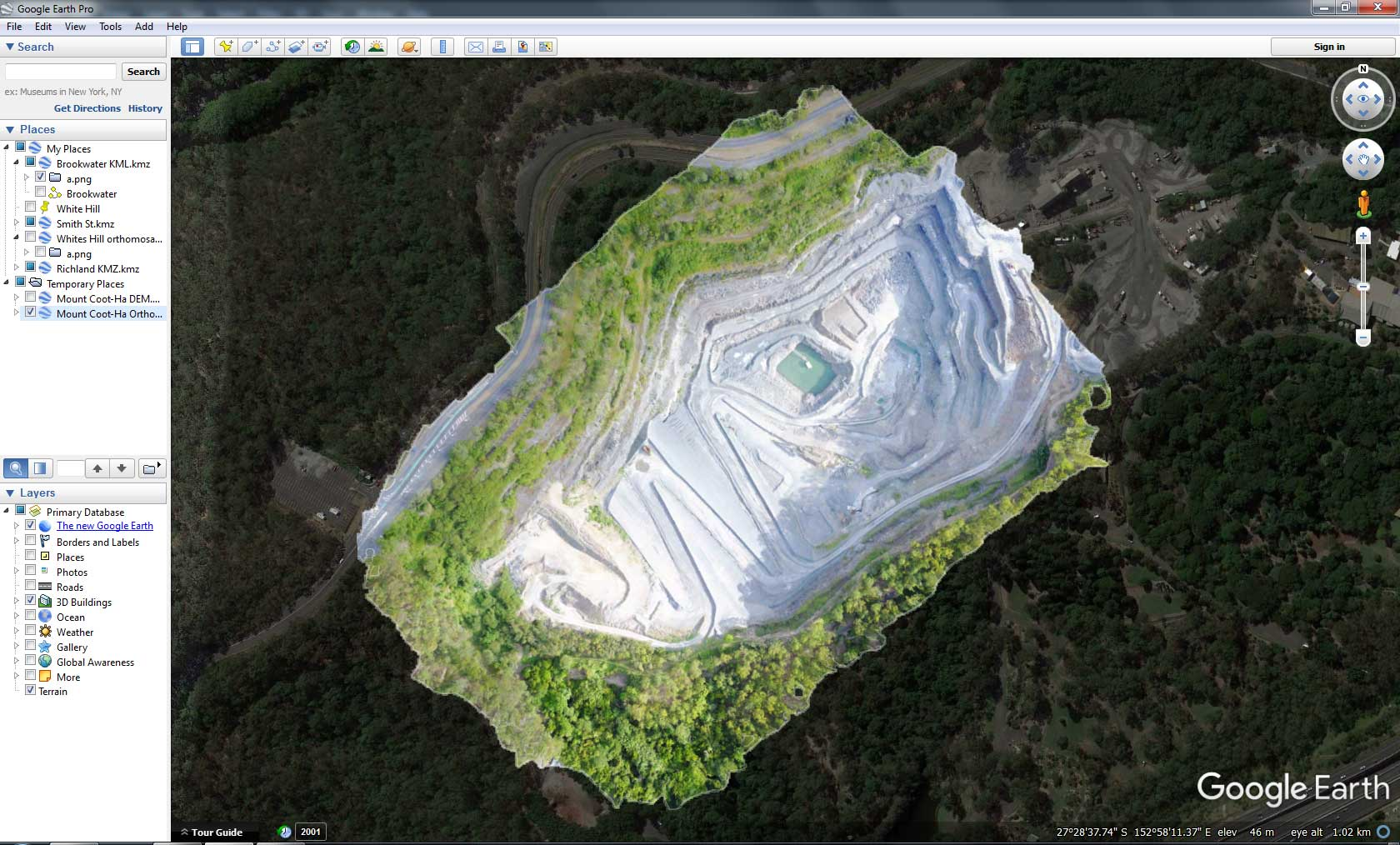 Geospatial Drone Mapping using Consumer Drones - Google Earth Pro KML import