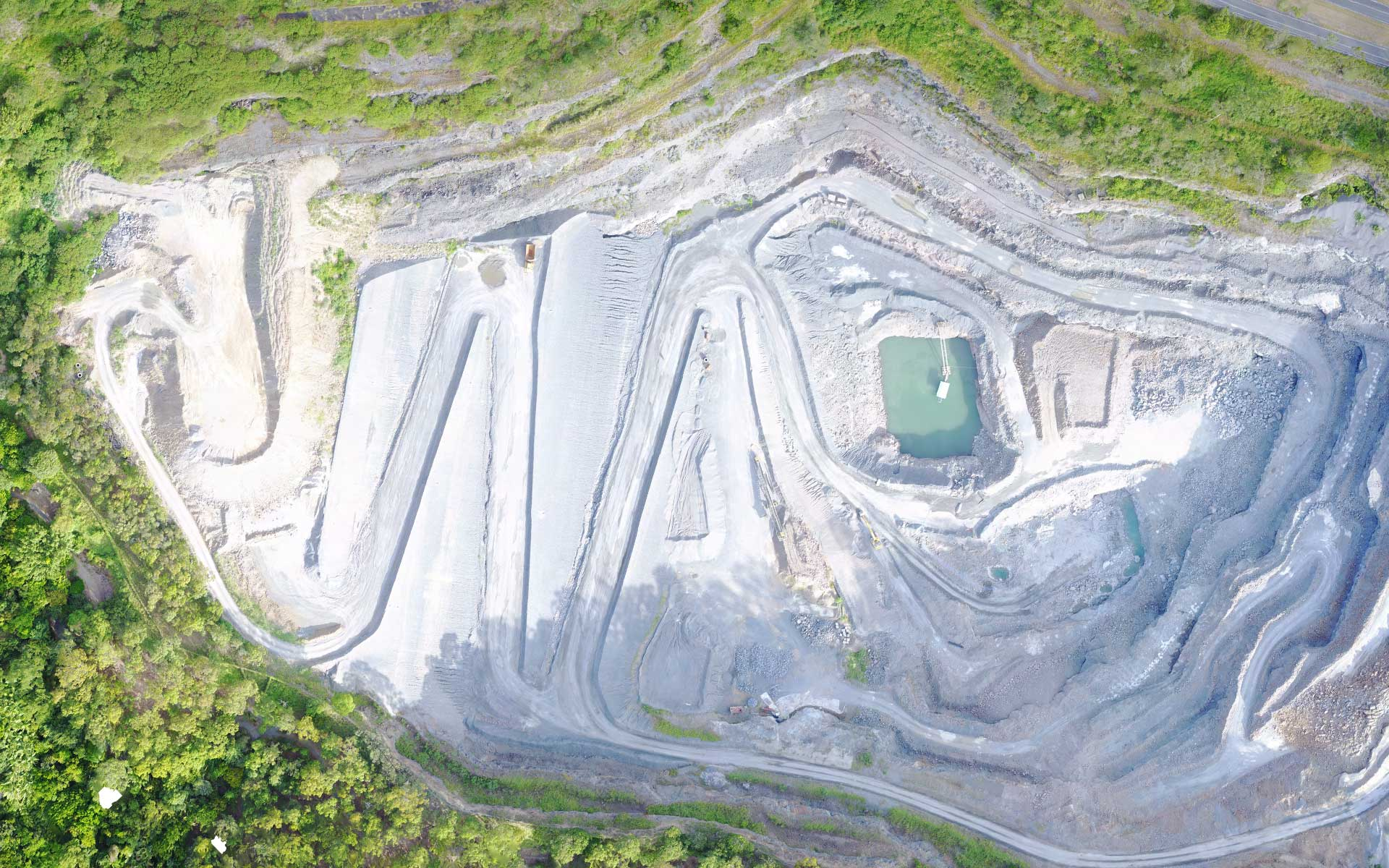 Mount Coot-Tha Quarry orthomosaic - DroneAce