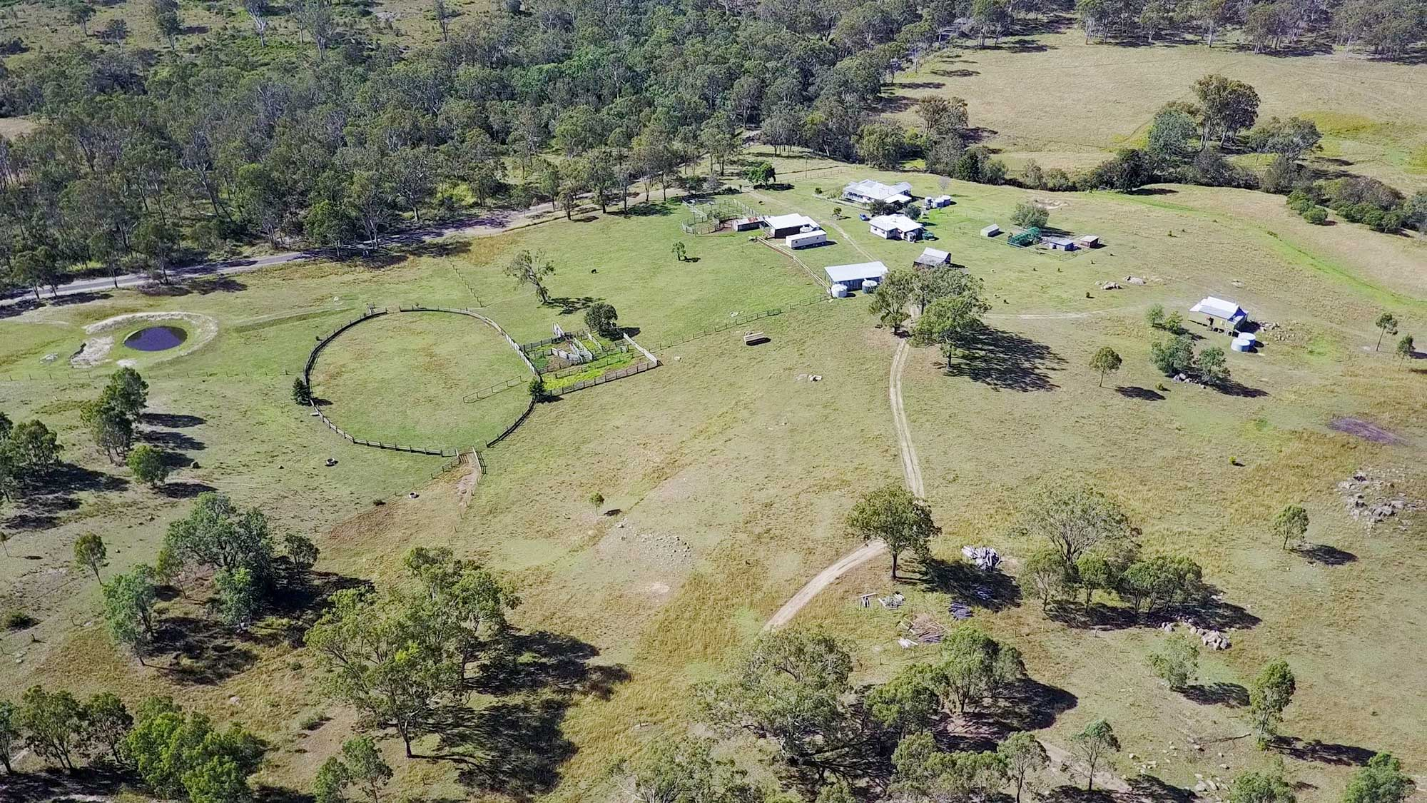 BunyipSprings FarmStay 2.7K Video Drone Photographs
