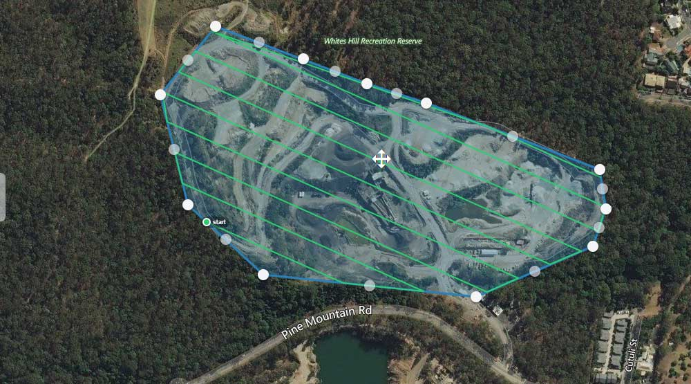 Mapping Brisbane Quarry using DroneDeploy and MavicPro