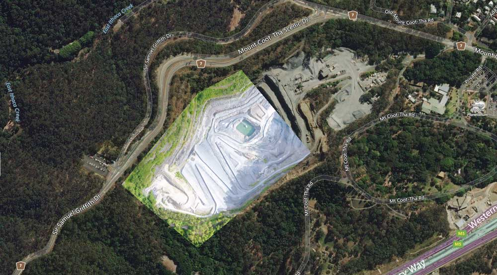Drone mapping Mount Coot-Tha Quarry using DroneDeploy with the MavicPro