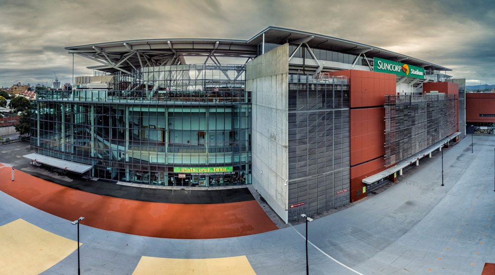 Drone photography used for capturing Suncorp Stadium