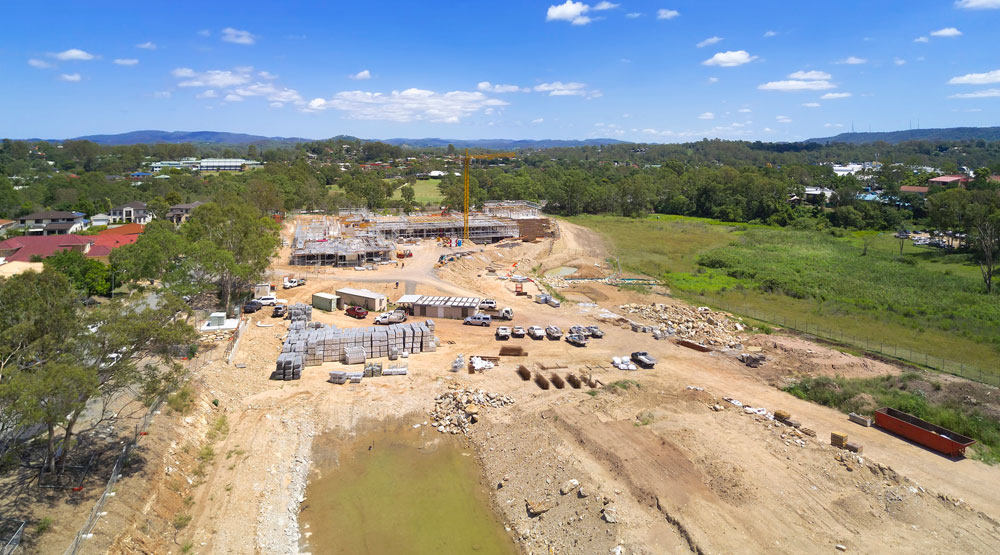 Brisbane drone services rates conditions - Construction drone photography