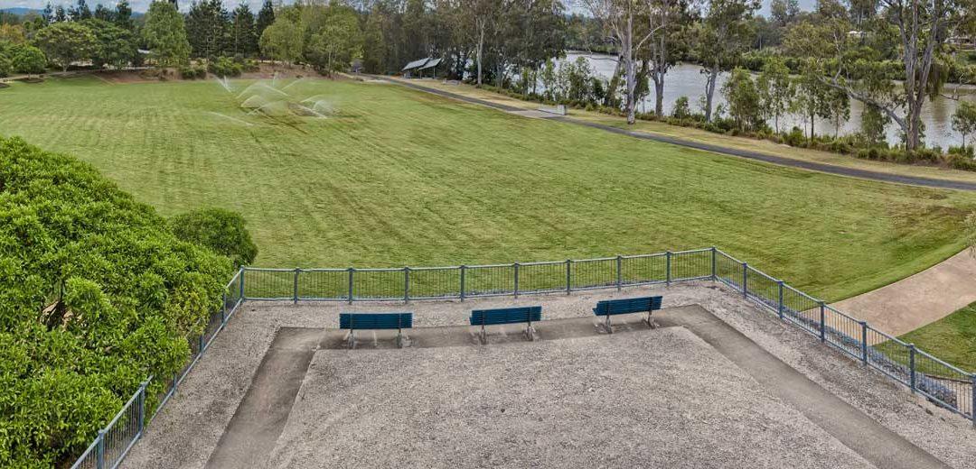 Aerial Photography Concrib Gabion Wall 17 Mile Rocks, Parklands Brisbane