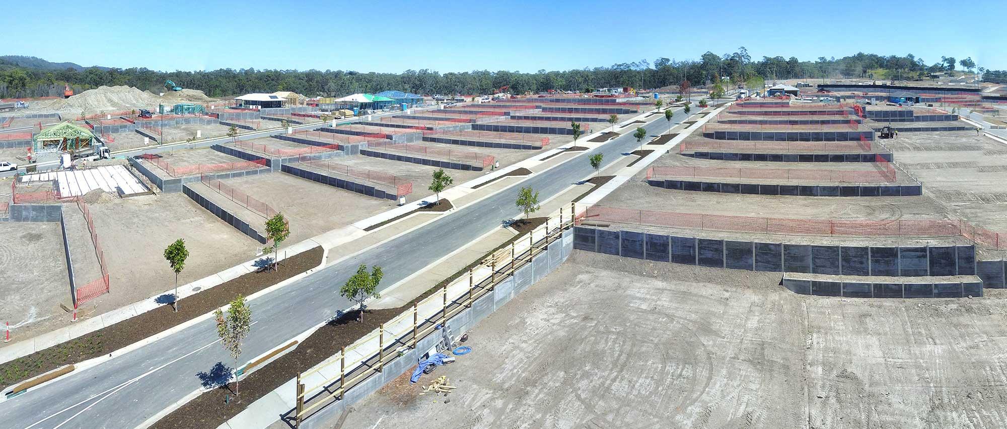Concrib Brookhaven Retaining Wall Aerial Video