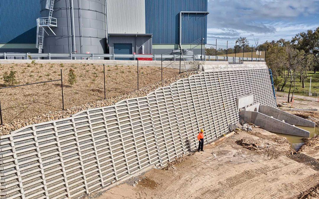 Aerial Photography for Concrib Crib Wall at Berrinba, Brisbane