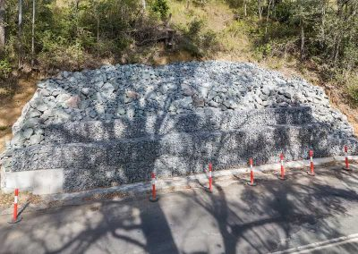 Concrib Gabion Wall Lamington National Park Landslip Repair Aerial Video