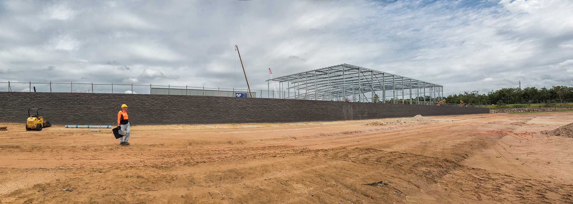 Ground photography for Concrib Segmental Wall Construction Heathwood Brisbane