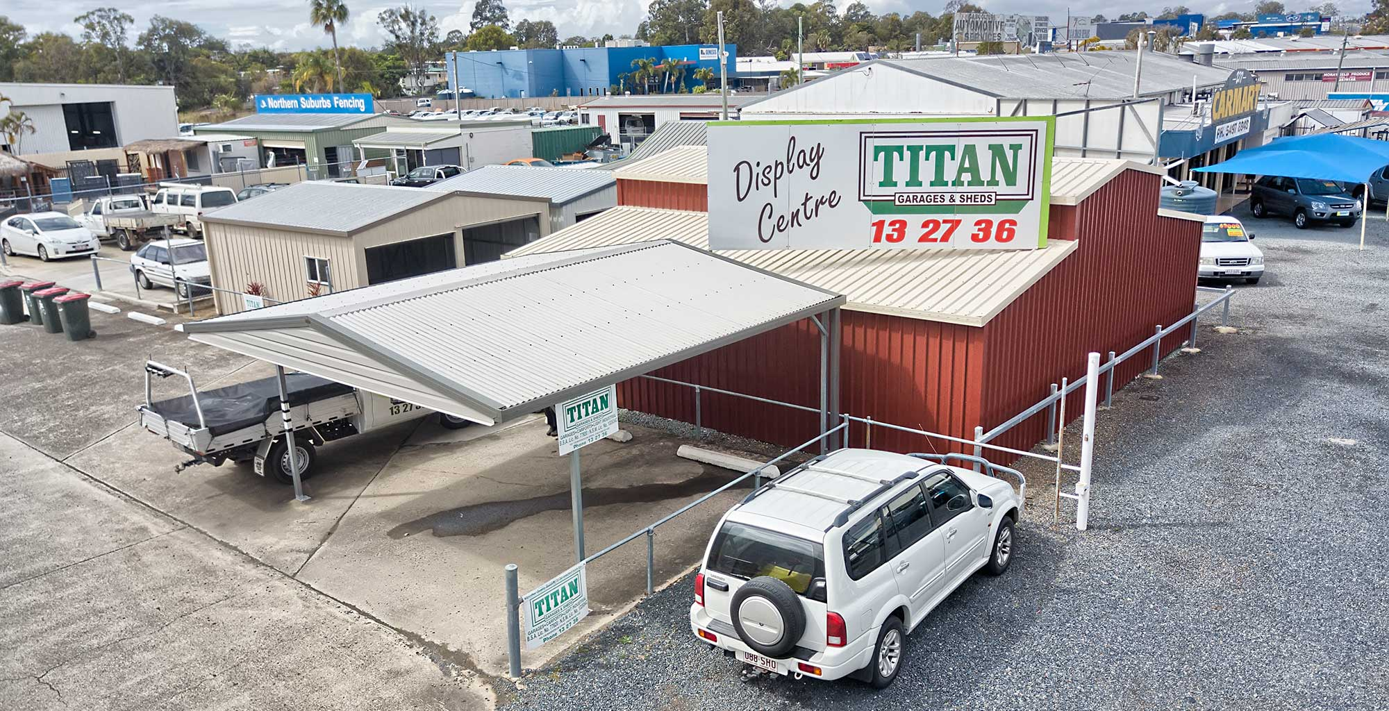 Titan Sheds Morayfield drone photography