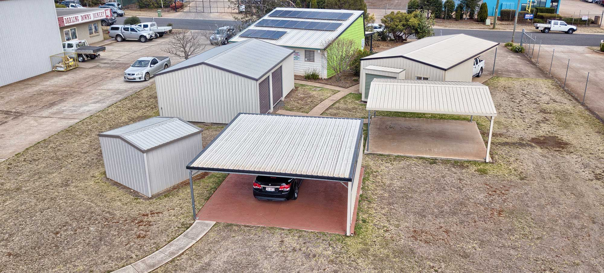 Titan Sheds Aerial Photography Toowoomba Display Centre