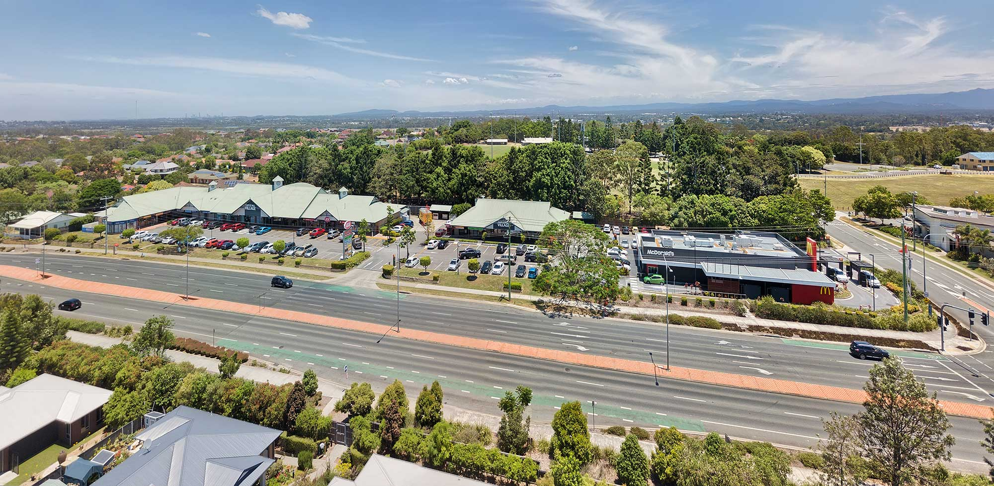 40 metres above the ground - Aerial Drone Video Murrumba Downs Shopping Centre