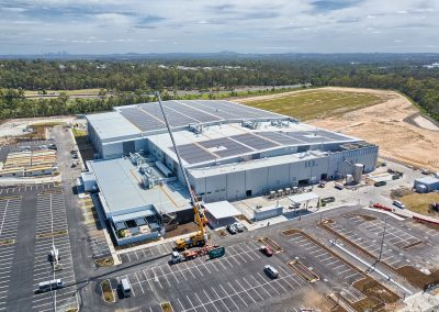 Aerial drone photography Seeana Place Heathwood Land Development with Concrib Segmental wall DroneAce Brisbane