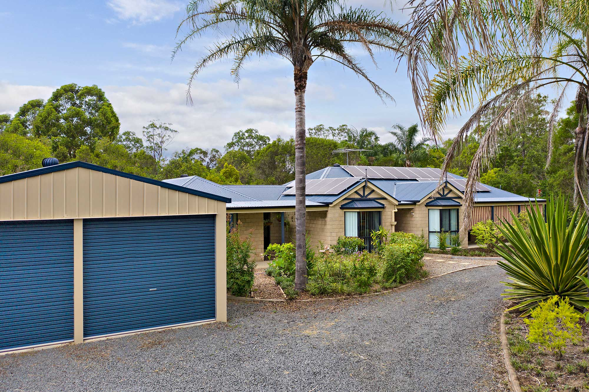 Drone photography Sugar Gum Court Flagstone home for sale