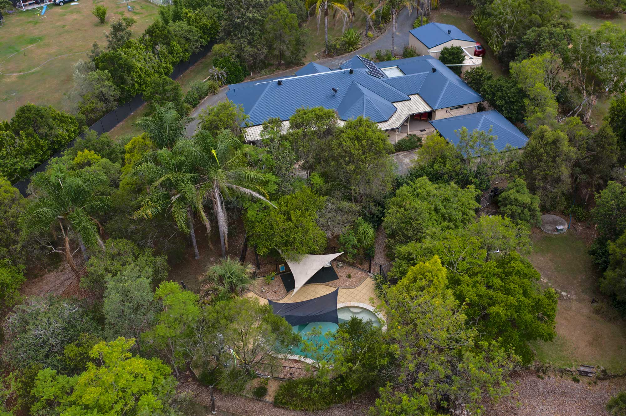 Aerial drone photography at Sugar Gum Court Flagstone for real estate agent Elders Jimboomba