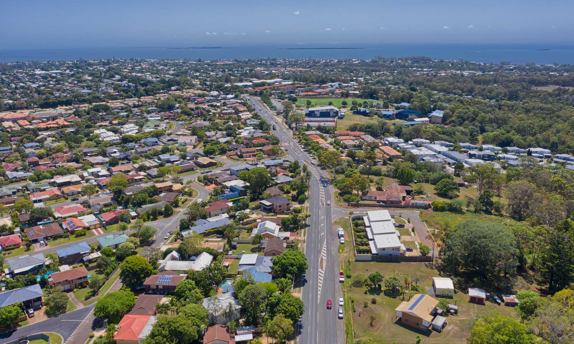 90 meters up - aerial drone photography 357 Manly Rd, Manly Rd West