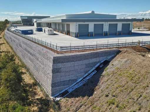 Drone Video Concrib Gabion Wall Metroplex West Volvo Office