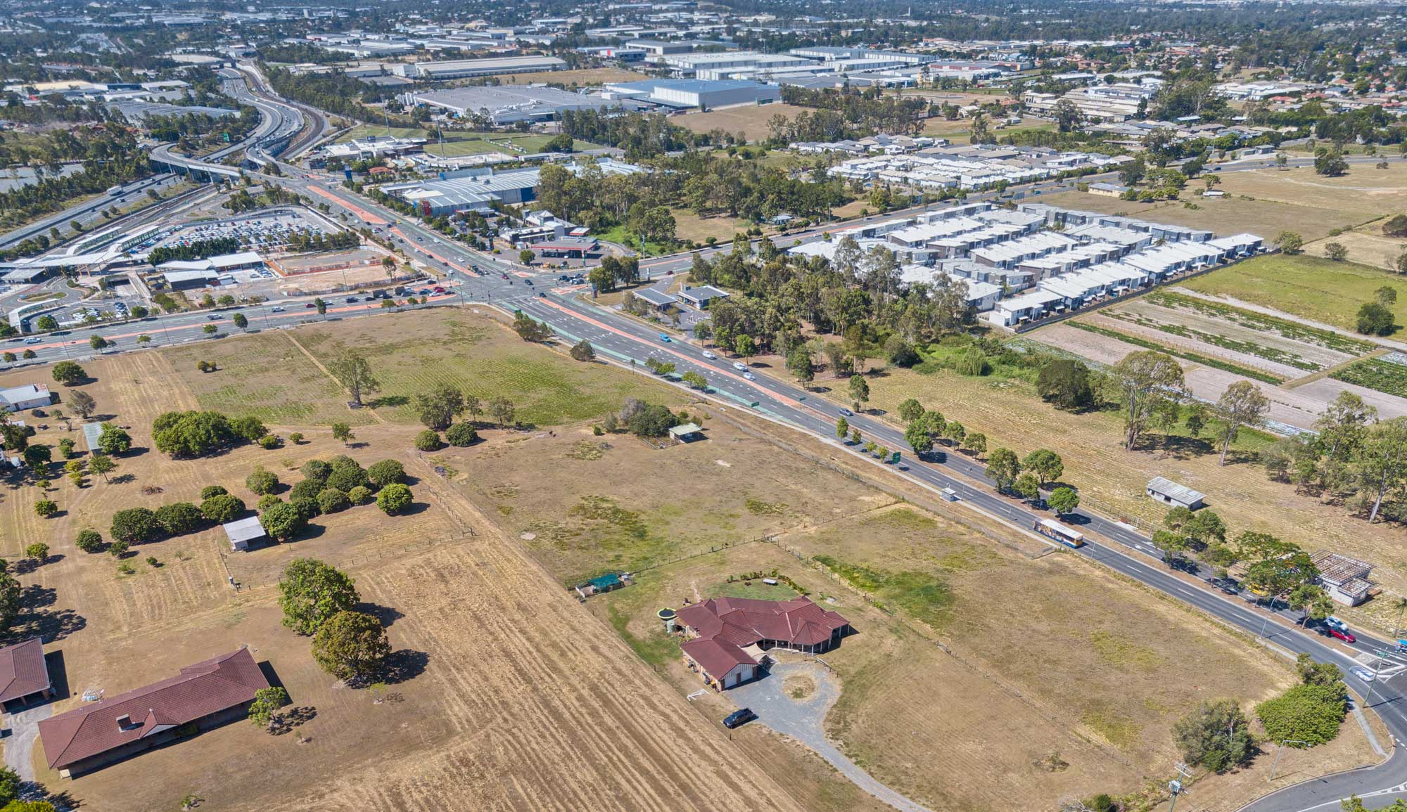 Drone photography of Government Rd, Richlands from 100m