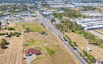 Drone Photography at Brisbane suburb of Richlands – land development