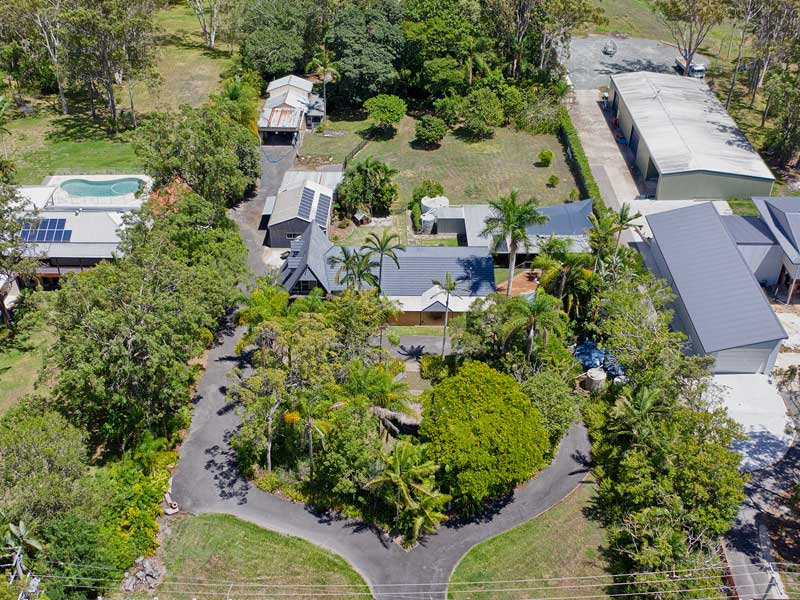 Drones photography for selling acreage real estate listing at Burbank, Brisbane