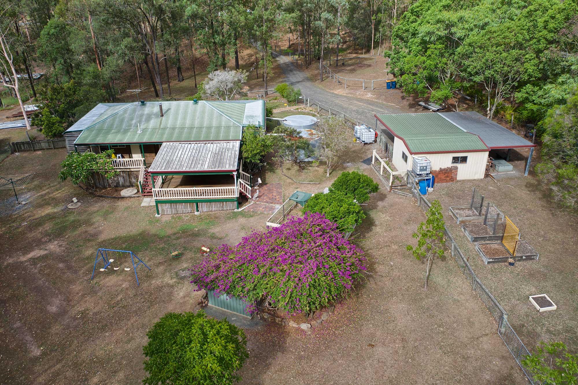 Acreage Aerial Drone Photography at Cedar Valley - DroneAce Brisbane