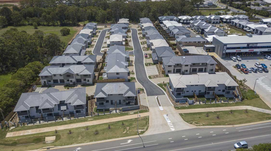 Drone photography Brays Rd Griffin master planned estate