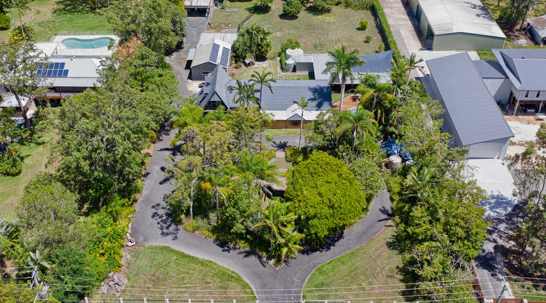 Drone photography home for sale in Burbank Brisbane