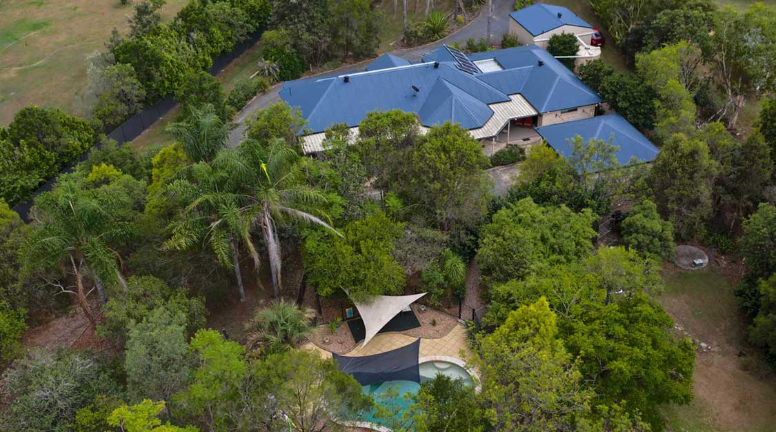 Drone photography home for sale in Flagstone by Elders Jimboomba