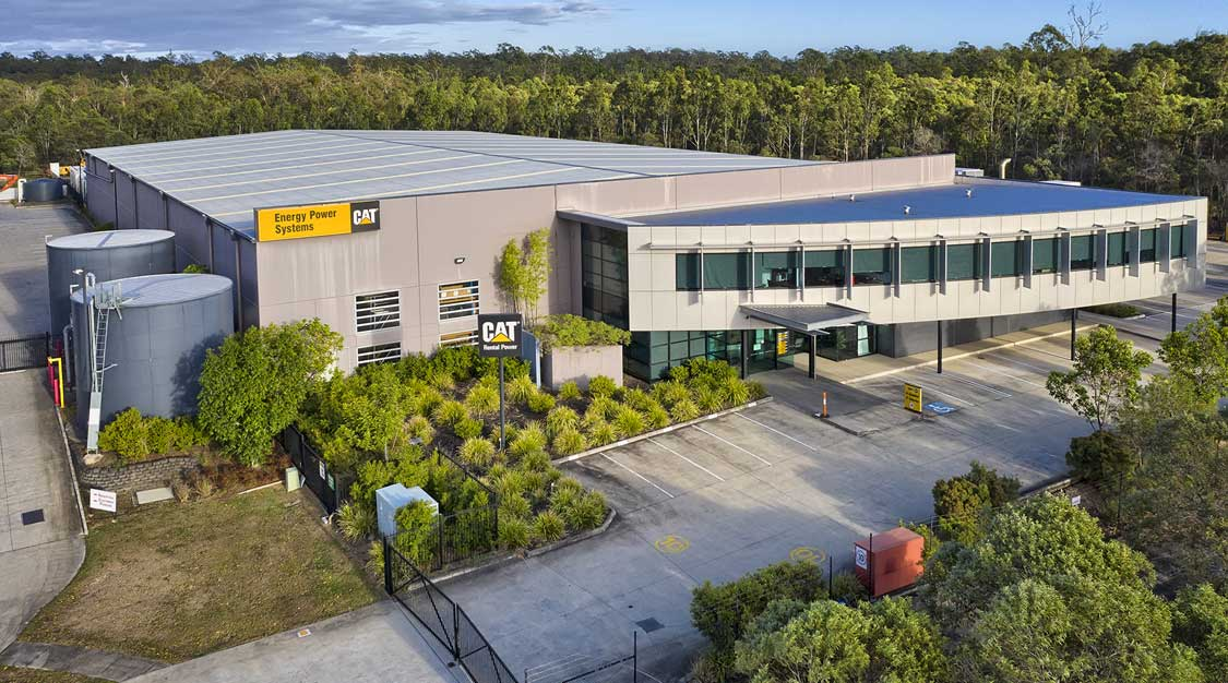 Drone photography of large format industrial building at Larapinta Brisbane