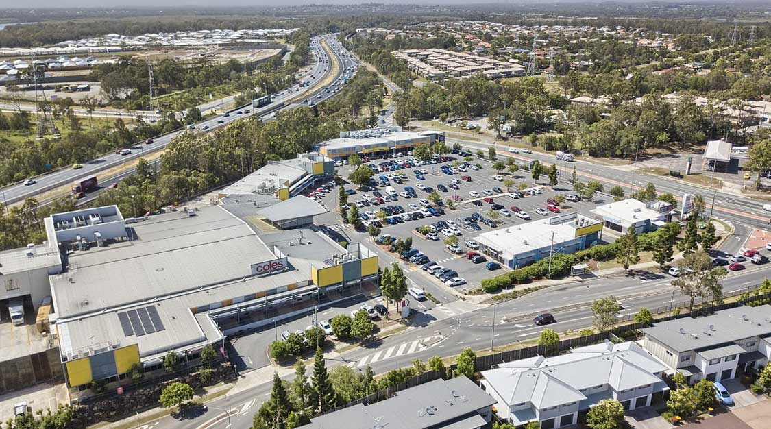 Drone photography large format building Murrumba Downs Shopping Centre