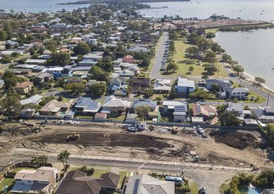 Simon St Victoria Point land development drone video