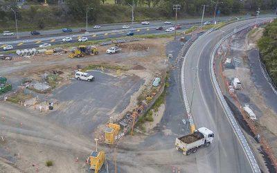 Drone photography HS Roads M1 interchange Brisbane